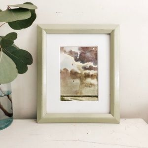 8x10 matted and framed horse print
